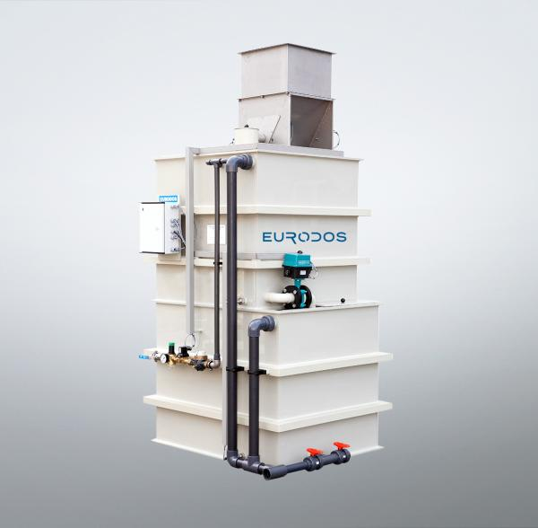 Eurodos polymer dissolving station Eurofloc two-chamber tower system
